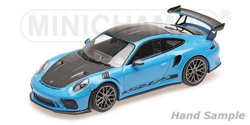 Porsche 911 991 2 Gt3 Rs 2019 Blue With Weissach Package With Golden Magnesium Wheels Minichamps 155068222 Miniatures Minichamps