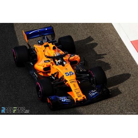 McLaren Renault MCL33 F1 Essais Abu Dhabi 2018 Carlos Sainz Jr. Minichamps 537186455