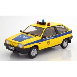 Lada Samara - Police Yellow and Blue KK Scale KKDC180216