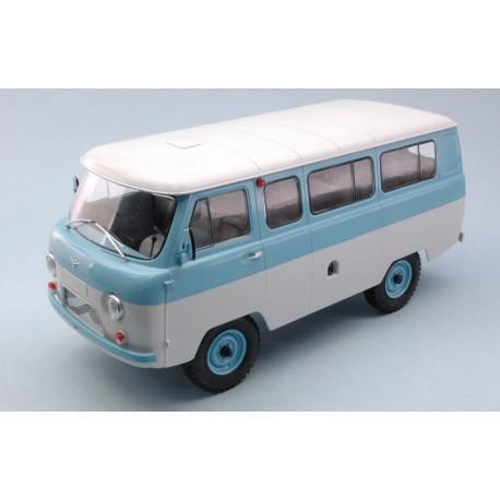 UAZ 452V Minibus Blue White IXO PCL47074