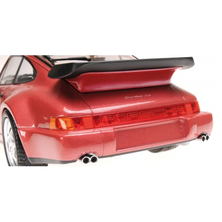 Porsche 911 Turbo 964 1990 Red Metallic Minichamps 155069102