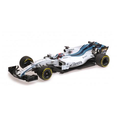 Williams Mercedes FW40 40 F1 Abu Dhabi Testing 2017 Robert Kubica Minichamps 117172040
