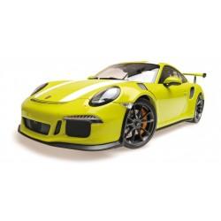 Porsche 911 991 GT3 RS 2015 Lightgrun with White Stripe Minichamps 155066224