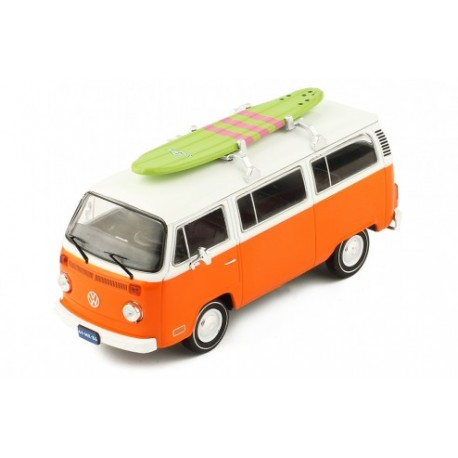 Volkswagen T2 - Bus Surfboard 1975 Orange and white IXO IXOCLC302