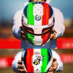Casque Helmet 1/2 Antonio Giovinazzi F1 2019 Bell