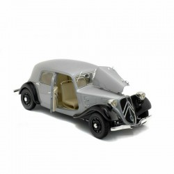 Citroen Traction 11B Silver and Black Solido S1800904
