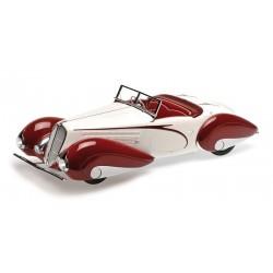 Delahaye Type 135 1937 Blanche Rouge Minichamps 107116161