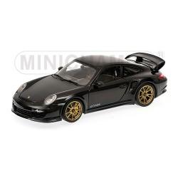 Porsche 911 (997 II) GT2 RS 2011 Noire - Jantes Dorées Minichamps 100069402