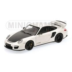 Porsche 911 (997 II) GT2 RS 2011 Blanche - Jantes Noires Minichamps 100069405