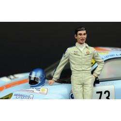 Figurine Jacky Ickx 1969 with Helmet Le Mans Miniatures LMFLM118007