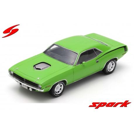 Plymouth Hemi Cuda 1970 Green Spark S3615