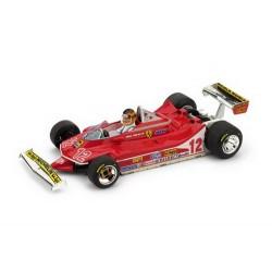 Ferrari 312 T4 avec pilote 12 F1 Grand Prix de France 1979 Gilles Villeneuve Brumm BRUR512CH