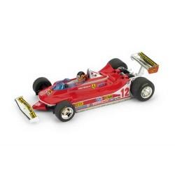 Ferrari 312 T4 avec pilote 12 F1 Grand Prix des USA 1979 Gilles Villeneuve Brumm BRUR578CH