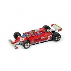 Ferrari 126CK Turbo 27 F1 Montecarlo 1981 Gilles Villeneuve Brumm R367-CH