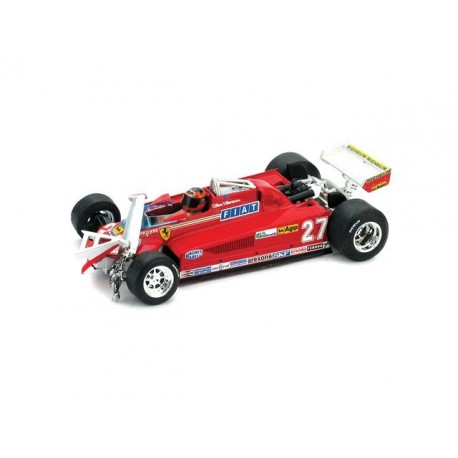 "Ferrari 126CK Turbo ""Accidentée"" 27 F1 Canada 1981 Gilles Villeneuve Brumm R437-CH"