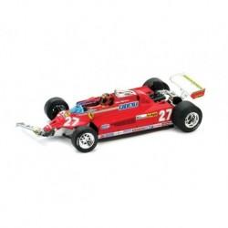 "Ferrari 126CK Turbo 27 ""Accidentée"" F1 Canada 1981 Gilles Villeneuve Brumm R436-CH"