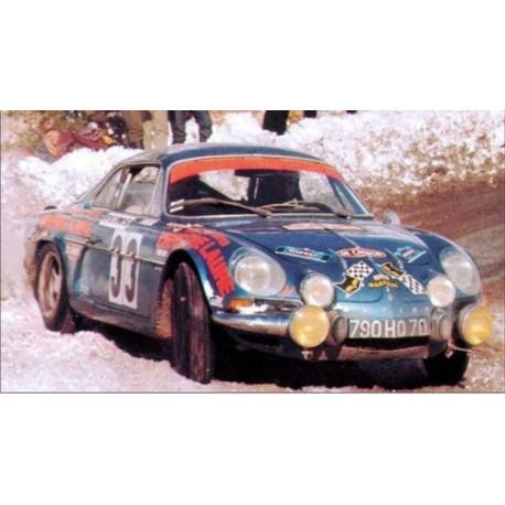 Alpine Renault A110 1600S 33 Rallye Monte Carlo 1973 Henry Thiry Trofeu T0823