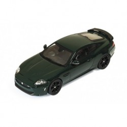 Jaguar XKR-S British Racing with black wheels Green Metallic IXO MOC138