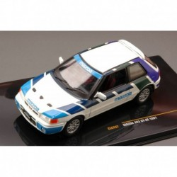 Mazda 323 GT AE 1991 White and Blue IXO CLC237