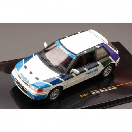 Mazda 323 GT AE 1991 White and Blue IXO CLC237
