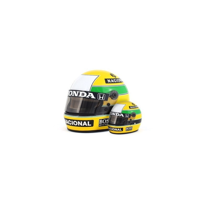 casque 1 2 ayrton senna f1 1988 sports mini line miniatures minichamps. Black Bedroom Furniture Sets. Home Design Ideas