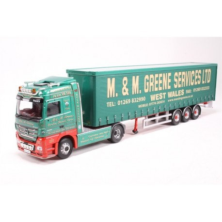 Mercedes Actros (Face Lift) Vinyl Curtainside M&M Greene LTD Llanelli, West Wales (Mod, tool) Corgi CC13821