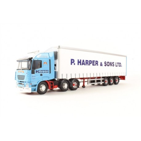 Iveco Stralis Fridge Curtainside P Harper & Sons LTD Ramsey, Cambridgeshire L.E. Corgi CC15006