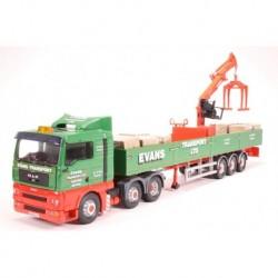 "Man TGA Crane Trailer & Palletised Load ""Evans Transport LTD"" Corgi CC13426"