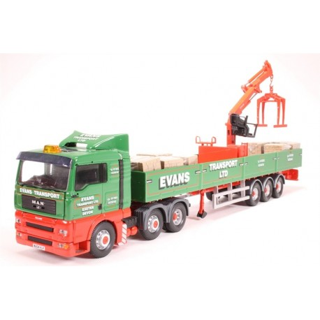 "Man TGA Crane Trailer & Palletised Load ""Evans Transport LTD"" Corgi CC13426"