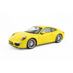 Porsche 911 / 991 Carrera S Jaune 2012 Welly 18047Y