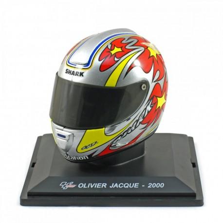 Casque 1/5 Olivier Jacque Moto GP 2000 IXO GC047