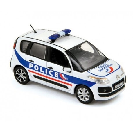 citroen c3 picasso police 2011 blanche norev 155324 miniatures minichamps. Black Bedroom Furniture Sets. Home Design Ideas