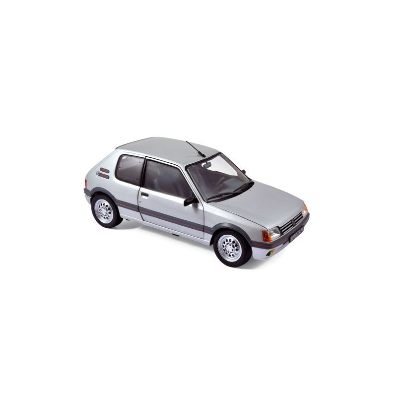 peugeot 205 gti 1 6l 1988 grise norev 184852 miniatures minichamps. Black Bedroom Furniture Sets. Home Design Ideas