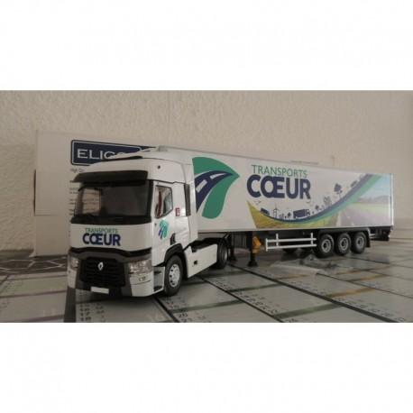 Renault T460 Remorque Lamberet Transports Cœur Eligor E116513
