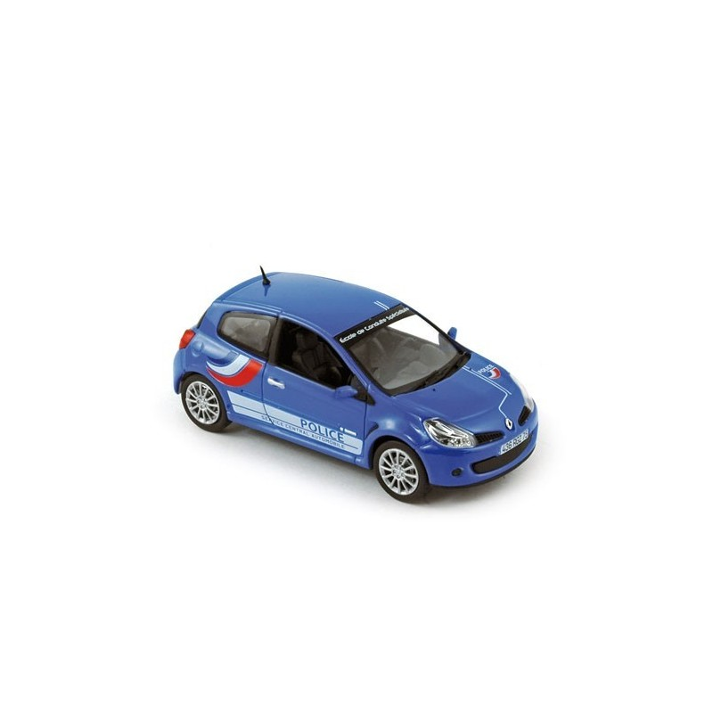 renault clio iii rs police 2007 bleue norev 517540 miniatures minichamps. Black Bedroom Furniture Sets. Home Design Ideas