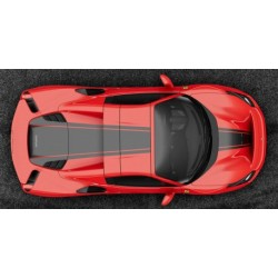 Ferrari 488 Pista Spider Hard Top Rosso Corsa with Nero Daytona livery Looksmart LS496HTB