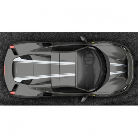 Ferrari 488 Pista Spider Hard Top Grigio Medio with Argento Nurburgring livery Looksmart LS496HTC