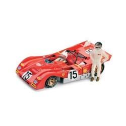 Ferrari 312PB 15 + pilotes 1000km de Monza 1971 Brumm R259-CH