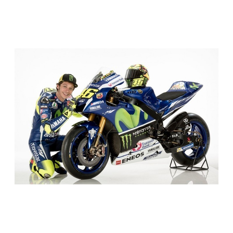 yamaha ytz m1 46 winner moto gp assen 2015 valentino rossi spark m43005 miniatures minichamps. Black Bedroom Furniture Sets. Home Design Ideas