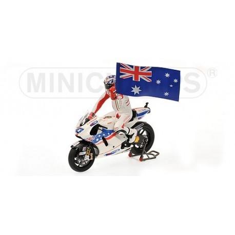 Ducati Desmosedici GP09 Moto GP Australie 2009 Casey Stoner Minichamps 122090127