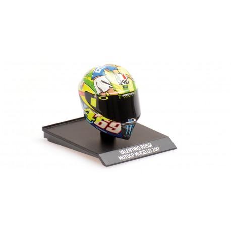 Casque Helmet 1/10 AGV Valentino Rossi Moto GP Mugello 2017 Minichamps 315170086