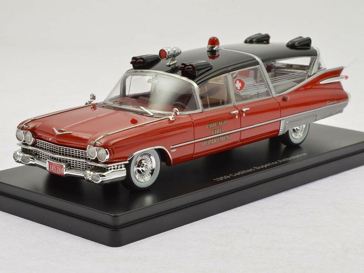 Cadillac S/&S Superior Landau Ambulance Fire Depart 1959 NEOSCALE 1:43 NEO45264