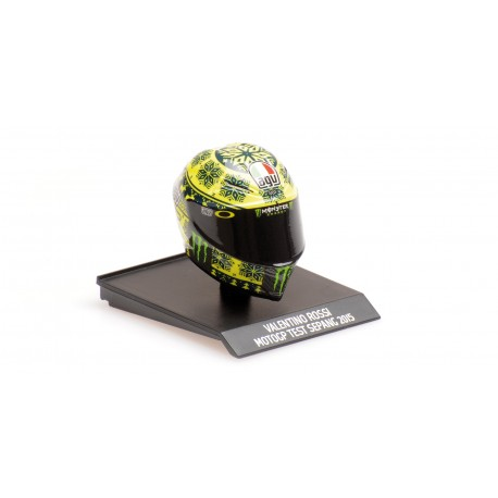 Casque Helmet 1/10 AGV Valentino Rossi Moto GP Test Sepang 2015 Minichamps 315150076