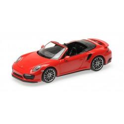 Porsche 911 Type 991/2 Turbo S Cabriolet 2017 Red Minichamps 410067180
