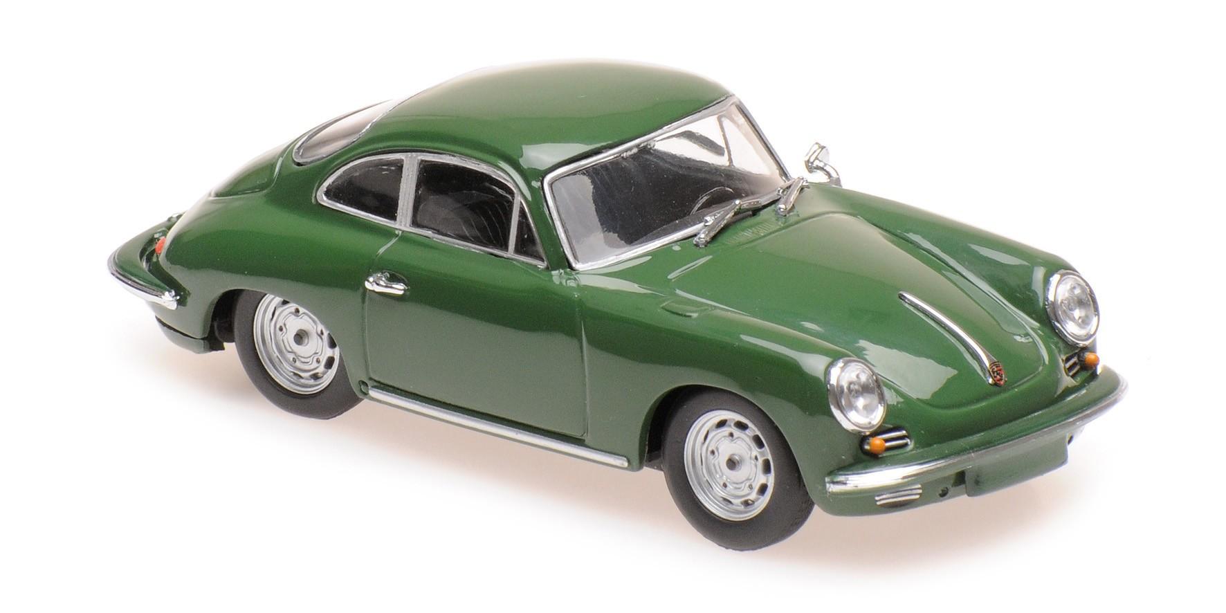 Porsche 356 C carrera 2 Coupe 1963 verde oscuro 1:43 Minichamps maxichamps