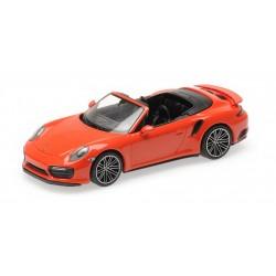 Porsche 911 Type 991/2 Turbo S Cabriolet 2017 Orange Minichamps 410067181