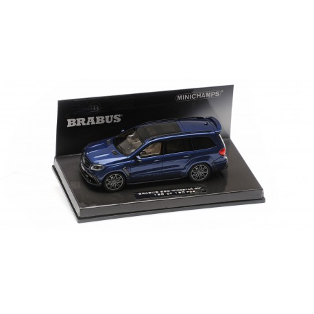 Brabus 850 Widestar XL based on Mercedes AMG GLS 63 2017 Dark Blue Metallic Minichamps 437037364