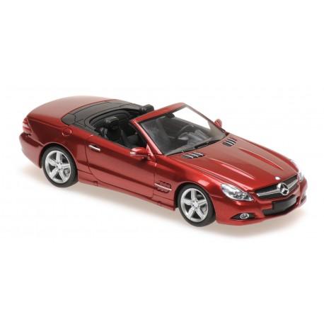 Mercedes Benz Classe SL R230 2008 Red Metallic Maxichamps 940037530