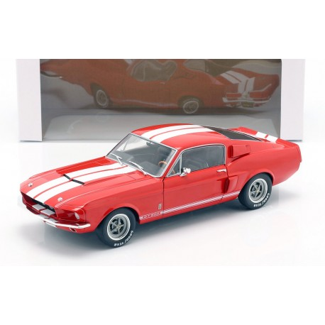 Shelby Mustang GT500 1967 Red and White Stripes Solido S1802902