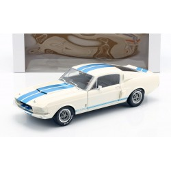 Shelby Mustang GT500 1967 White and Blue Stripes Solido S1802901